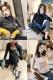 张贝贝ibell2018冬季新款韩版时尚长袖撞色修身套头针织衫上衣女